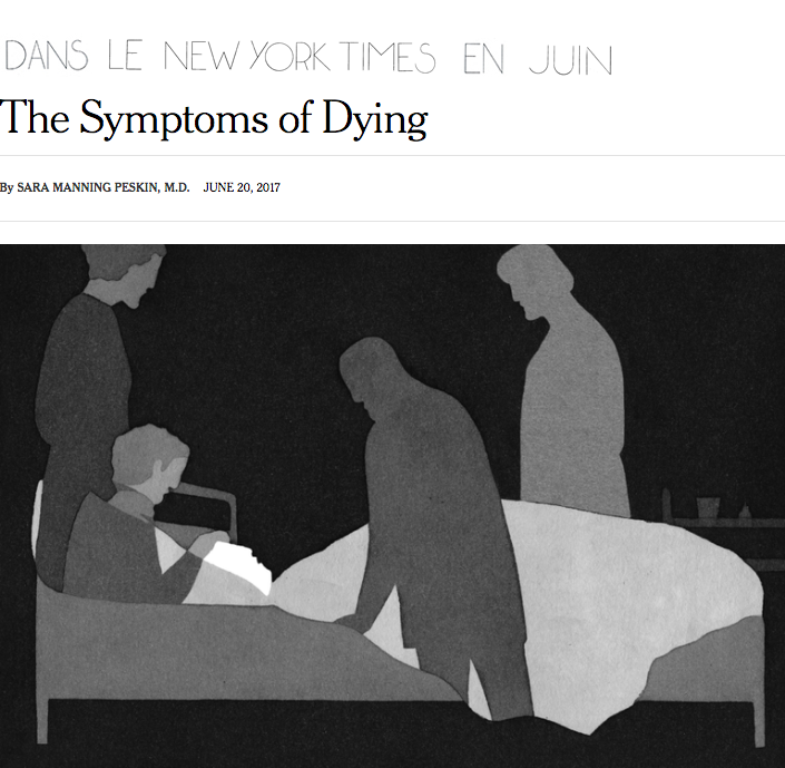 Symptoms of dying
