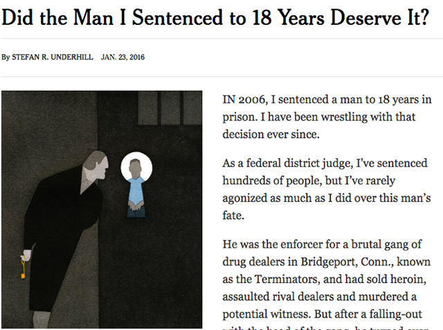 Did the Man I sentenced to 18 Years Deserve It?